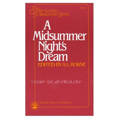 A Midsummer Night's Dream (The Contemporary Shakespeare Series)