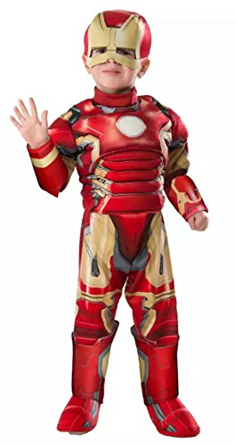 Marvel Avengers Age of Ultron Deluxe IRON MAN MUSCLE Costume Toddler Size 3T-4T