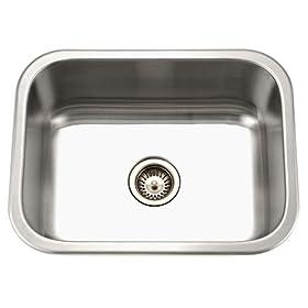 Houzer MS-2309-1 Medallion 23-3/16-by-17-15/16-Inch Single Bowl Undermount Stainless Steel Kitchen Sink