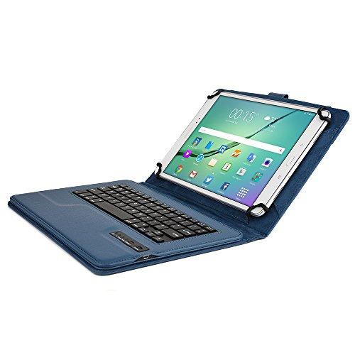 Microsoft Surface 3 Custodia con Tastiera, COOPER INFINITE EXECUTIVE Custodia a libro Per Il Trasporto di Tablet con Tastiera Bluetooth QWERTY Wireless Removibile con supporto (Blu)