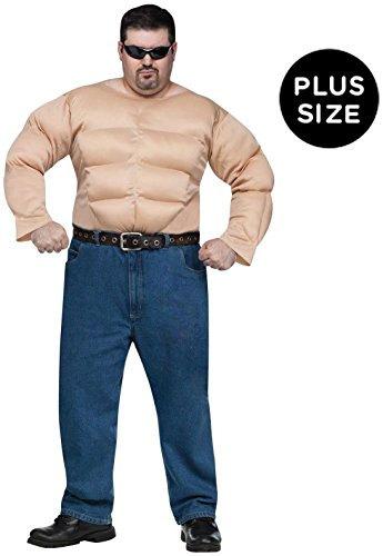 Fun World - Muscle Chest Shirt Adult Plus Costume