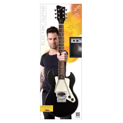 adam levine solid body electric guitar by first act black al223 arts entertainment hobbies. Black Bedroom Furniture Sets. Home Design Ideas