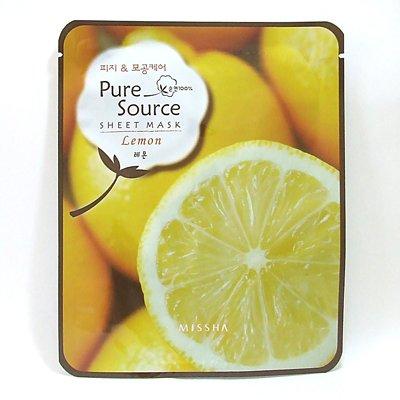 ミシャ パックマスク ピュア ソース シートマスク レモン