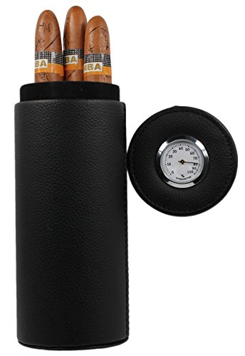 AMANCY Cedar Wood Lined Portable Travel Leather Cigar Humidor with Humidifier (Cigar Humidor With Humidifier compare prices)