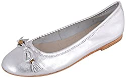 Coca Womens White Leather Ballet Flats Shoes - 6
