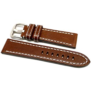DaLuca OEM Style Leather Watch Strap - Brown : 22mm