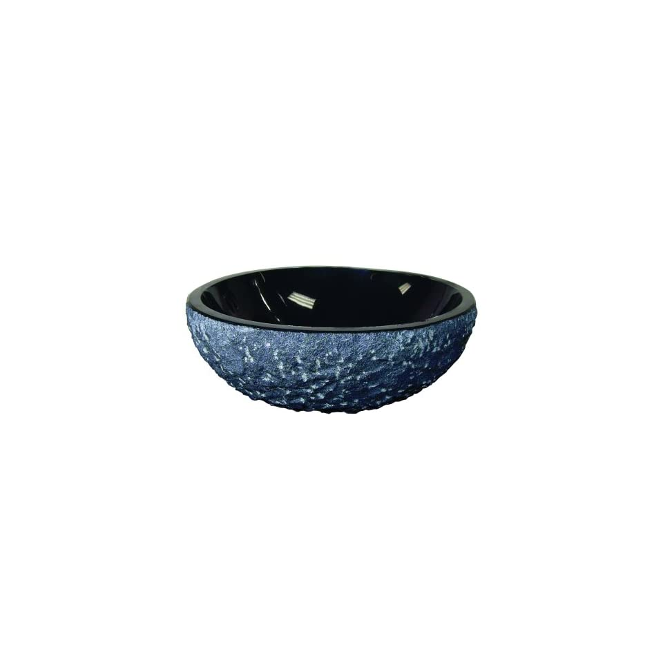 Yosemite Home Decor PIRAN Granite Stone Topmount Classic Round Vessel Sink