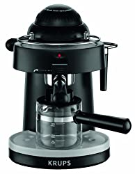 KRUPS XP100050 Steam Espresso Machine with Frothing Nozzle for Cappuccino, Black made by Krups