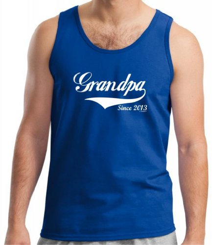 Grandpa Since 2013 Tank Top Small Royal front-1027736