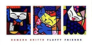 Fluffy Friends - Poster by Romero Britto (40 x 20)