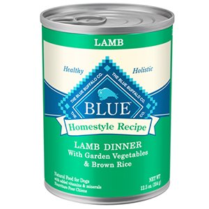 Blue Buffalo Canned Dog Food, Lamb And Brown Rice Dinner (Pack Of 12 12.5-Ounce Cans)
