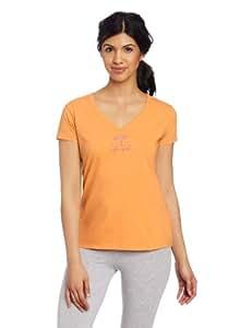 Life is good Women's Beach Umbrella Sleep Tee, Tangerine Orange, X-Small