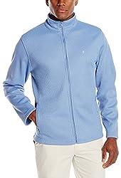 IZOD Men's Long Sleeve Full Zip Stratton Shaker Fleece Jacket