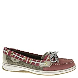 Sperry Topsider Womens Angelfish Red Britton Stripe Boat Shoe - 12