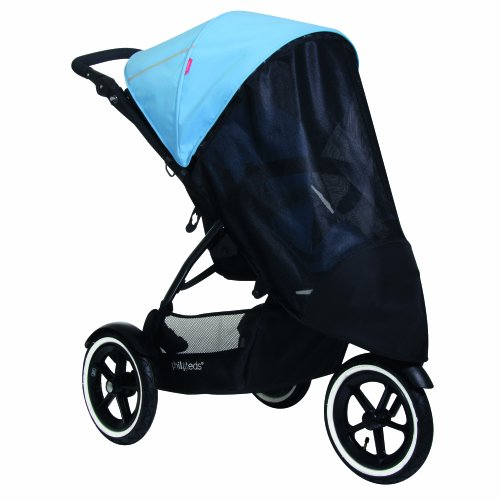 phil&teds UV Sunny Days Mesh Cover for Single Navigator Stroller, Black