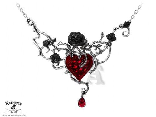 Alchemy Gothic Letto Di Rose Di Sangue Collana