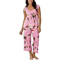 Product Image Nick &amp; Nora Pajama Set - Pink Cowgirls