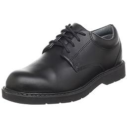 School Issue Scholar 5200 Uniform Shoe (Toddler/Little Kid/Big Kid),Black Leather,3.5 W US Big Kid