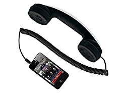COCO PHONE radiation free 3.5mm Wired Retro Handset Receiver for iphone & Android Phone - Black
