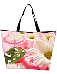 Snoogg Beautiful Flower In Nature Background Waterproof Bag Made Of High Strength Nylon