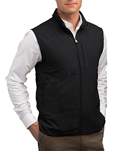 SCOTTeVEST Men's Travel Vest - 23 Pockets Travel Clothing BLK L (Scottevest Quest compare prices)