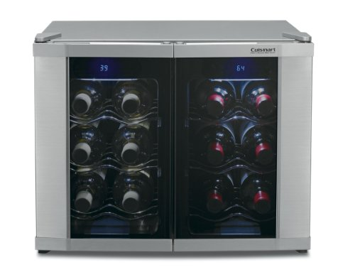 Best Buy! Cuisinart CWC-1200DZ 12-Bottle Dual Zone Wine Cellar