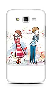 Amez designer printed 3d premium high quality back case cover for Samsung Galaxy Grand 2 G7102 (I love you valentines day)