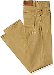 Gant Men's Regular Fit Jeans (8907036172454_GMJEF0011_40W x 32L_Khaki Gold)