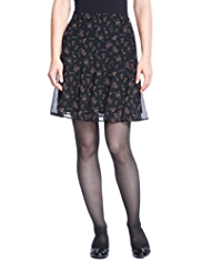 M&S Collection Ditsy Floral Skater Mini Skirt