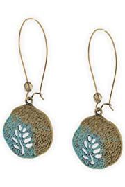 Imagine Jewelry Leaf Cutter Earrings