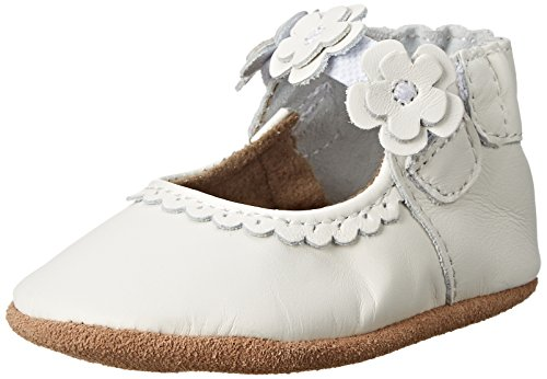 Robeez Claire Mary Jane (Infant), White, 0-6 Months M US Infant