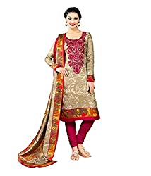 Meera Women's Cotton Silk Unstitched Dress Material (PS4_Multicolor)