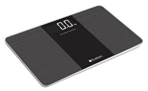 Ivation! Premium Glass Ultra Thin Bathroom Scale LARGE LCD Display Easy To Read 150kg/330lbs Capacity, Extra Wide 14 inch platform!