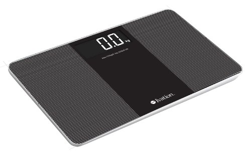 Ivation Premium Glass Ultra Thin Bathroom Scale LARGE LCD Display