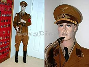 (MD-BC8S) ROXYDISPLAYTM Male Mannequin, Flexible arms. Good for Museum Military Uniform or 1950s~1960s Men's Clothes Display (Color: MD-BC8S)
