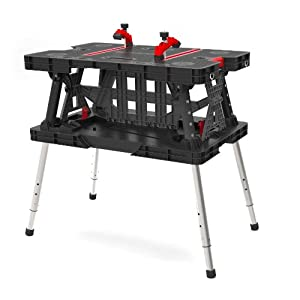 Keter 217679 Adjustable Leg Folding Work Table