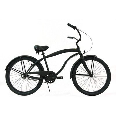 Men's 3-Speed Beach Cruiser Color: Black / Black