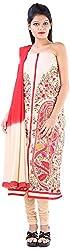 JYOTI Women's Kora Silk Unstiched salwar Suit (JBAM-38, Buscuit)
