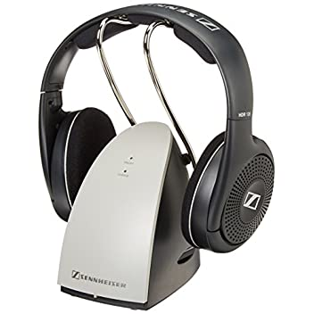The Sennheiser RS 120 is a lightweight RF wireless headphone system with open, supra-aural headphones. It includes (1) Wireless Headphones, (1) Wireless Transmitter that acts as the headphone charging cradle and (2) AAA NiMH rechargeable batteries.