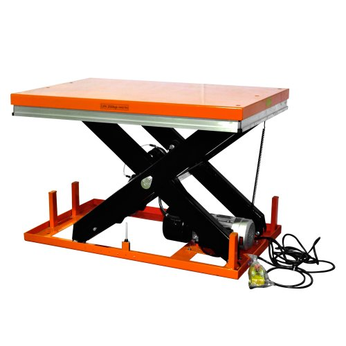 """Bolton Tools New Stationary Electric Powered Hydraulic Lift Table - 8800 Lb Of Capacity - 43.3"""" Max Height - Model Et4001"""