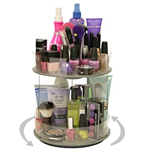 Amazon.com: Cosmetic Organizer new Mini that Spins..only 10 Of Countertop. More Than Doubles Your Storage