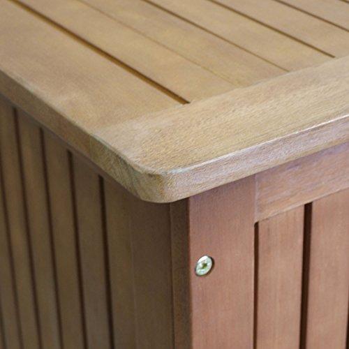 Box da esterno baule box da giardino cassapanca da esterno in legno duro di acacia trattata con - Cassapanca legno da esterno ...