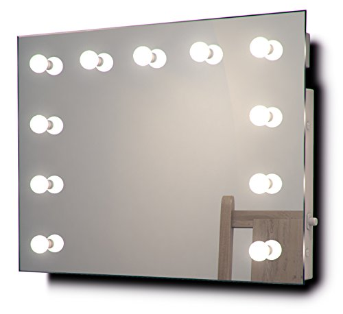 Hollywood Makeup Dressing Room Mirror With Cool White Dimmable Led Lamps K95Cw