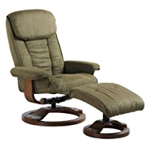 Big Sale MacMotion Chair #7151/639-32-103 Swivel Recliner with Ottoman