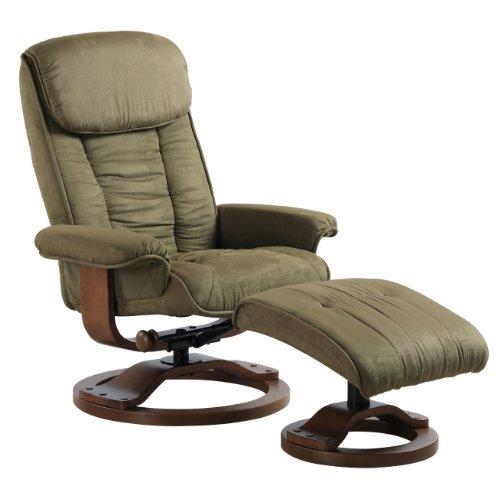 Comfort Chair Swivel Recliner with Ottoman Relax Leg ...