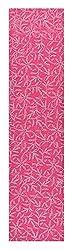 knool Women's Georgette Kurti and Dupatta Fabric (Pink)
