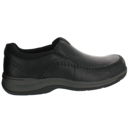 Clarks Men's Portland 2 Easy Slip-On,Black Leather,7 W US