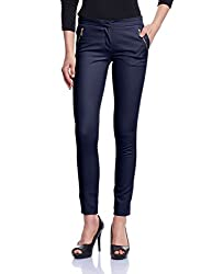 Madame Women's Slim Pants (M1427001_Navy_34)