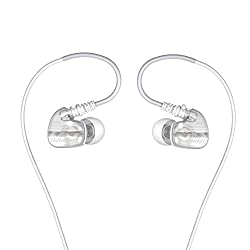 Brainwavz XFIT XF-200 In-Ear Sport Earbuds Noise Isolating Earphones Stereo Headphones Remote & Microphone for Apple iPhone & Android Phones (White)