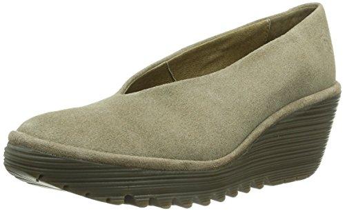 Fly London Yaz - Zapatos de tacón, color Taupe 158, talla 39